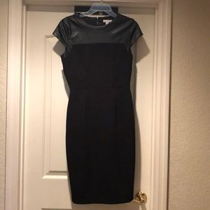 Faux leather and knit black dress size S